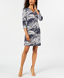 Printed Zip-Neck Dress, Created for Macy's