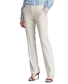 Lauren Ralph Lauren Pinstripe-Print Straight-Leg Pants