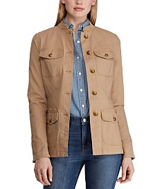 Lauren Ralph Lauren Utility-Look Canvas Jacket