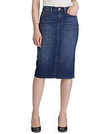 Lauren Ralph Lauren Curvy-Sculpted Denim Skirt