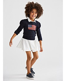 Toddler Girls Sweater & Polo Dress