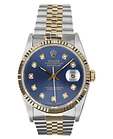 Men's Swiss Automatic Datejust Jubilee Diamond (1/8 ct. t.w.) 18K Gold & Stainless Steel Bracelet Watch 36mm