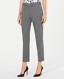 Pinstripe Straight-Leg Pants