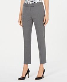 Calvin Klein Pinstripe Straight-Leg Pants