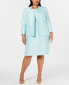 Kasper Plus Size Blazer & Sheath Dress
