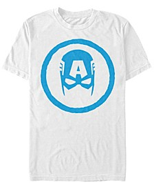 Men's Comic Collection Classic Captain America Mask Short Sleeve T-Shirt