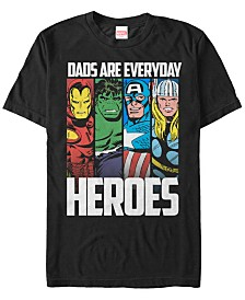 Marvel Men's Comic Collection Dads Are Everyday Heroes Short Sleeve T-Shirt