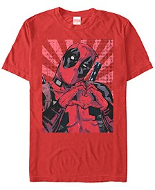 Marvel Men's Deadpool Close To The Heart Short Sleeve T-Shirt