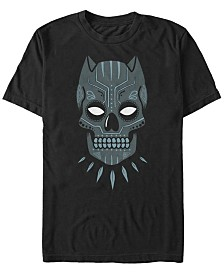 Marvel Men's Comic Collection Black Panther Sugar Skull Short Sleeve T-Shirt