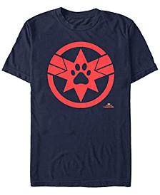 Men's Captain Marvel Goose The Cat Paw Logo Short Sleeve T-Shirt