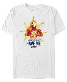 Men's Avengers Endgame Before You Didn't Have Me Short Sleeve T-Shirt