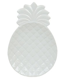 HDS Trading Island Elegance Glazed Ceramic Large Pineapple Spoon Rest