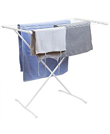 HDS Trading Folding 10 Rod Metal Clothes Drying Rack