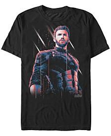 Marvel Men's Avengers Infinity War Captain America Strong Pose Short Sleeve T-Shirt