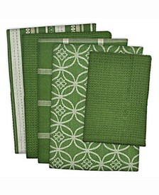 Assorted Dishtowel and Dishcloth, Set of 5