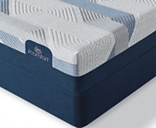 i-Comfort by Serta BLUE 300CT 11'' Plush Mattress Set- Twin XL
