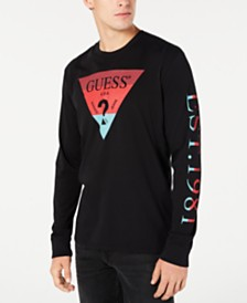 GUESS Men's Long-Sleeve Logo T-Shirt