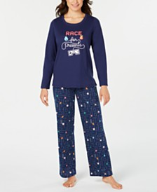 Matching Family Pajamas Women's Race For Presents Pajamas Set, Created for Macy's