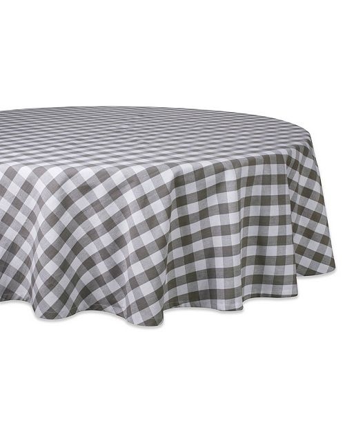 "Design Import Checkers Table Cloth 70"" Round"