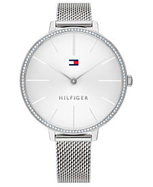 Tommy Hilfiger Women's Stainless Steel Mesh Bracelet Watch 38mm, Created For Macy's