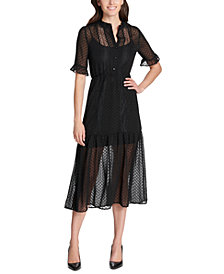 kensie Textured Illusion Midi Dress