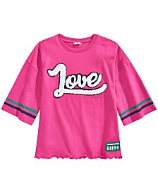 GUESS Big Girls Reversible Sequins Varsity T-Shirt