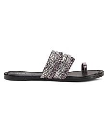 Olivia Miller Current Mood Embellished Sandals