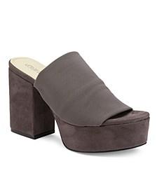 Myers Chunky Heel Peep Toe Platform Sandals