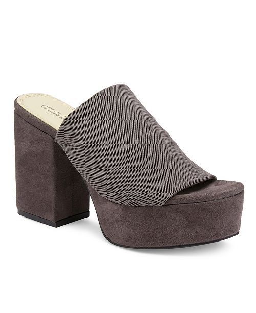 Olivia Miller Myers Chunky Heel Peep Toe Platform Sandals