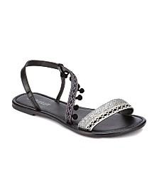 Olivia Miller Neptune Mini Pom Pom Sandals