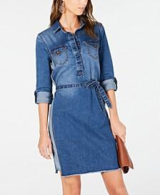 INC Long-Sleeve Jean Dress, Created for Macy's