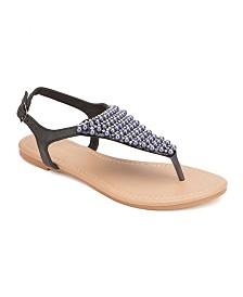 Olivia Miller Hialeah Multi Pearl Rhinestone Sandals