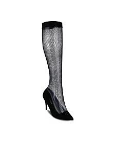 Olivia Miller Brownsville Mesh Pull-on High Heel Pumps