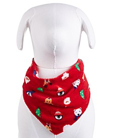 Matching Santa and Friends Fleece Pet Bandana, Created for Macy's