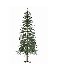 6-Foot High Pre-Lit Alpine Tree with Clear White Lights