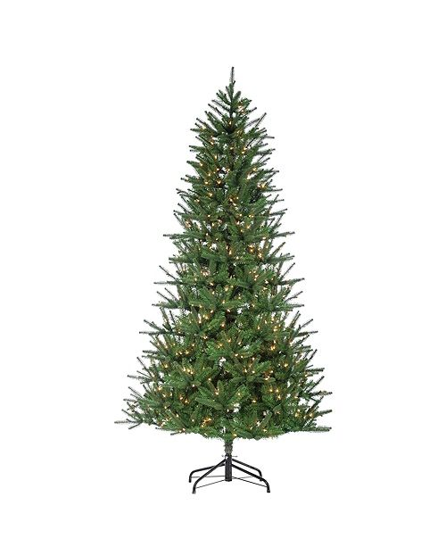 Sterling 7.5-Foot High Pre-Lit Natural Cut Mesa Pine Tree with Warm White LED Lights