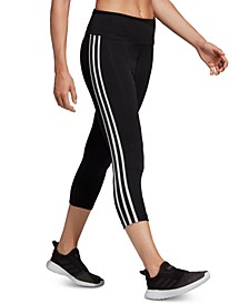 Women's Design 2 Move 3-Stripe ClimaLite® High-Rise Cropped Leggings