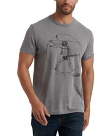Lucky Brand Men's Da Vinci Fender Graphic T-Shirt