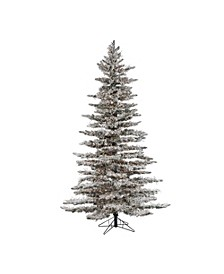 7.5Ft. Pre-Lit Flocked Wyoming Snow Pine with 6672 LED Micro Lights