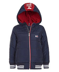 Tommy Hilfiger Big Boys Hooded Baseball Jacket
