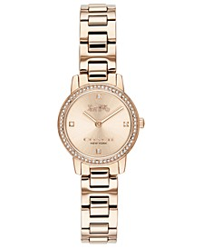 Women's Audrey Carnation Gold-Tone Stainless Steel Bracelet Watch 22mm