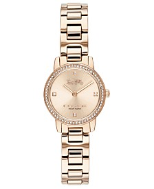 COACH Women's Audrey Carnation Gold-Tone Stainless Steel Bracelet Watch 22mm