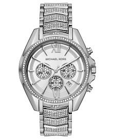 Michael Kors Women's Chronograph Whitney Stainless Steel Pavé Bracelet Watch 45mm