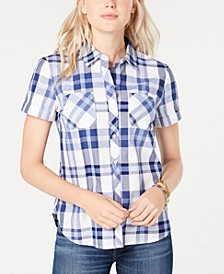 Cotton Plaid Camp Shirt, Created for Macy's
