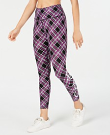 Calvin Klein Performance Plaid Logo Leggings