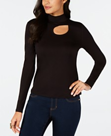Thalia Sodi Cutout Mock-Neck Top, Created for Macy's