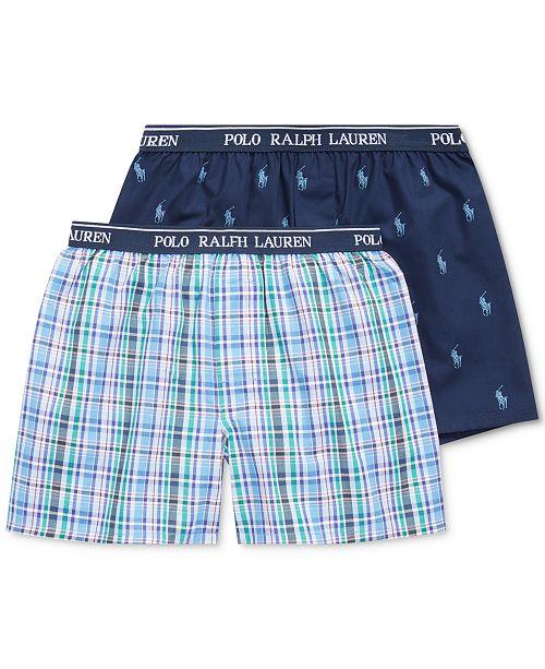 Polo Ralph Lauren Little & Big Boys 2pk. Woven Boxers