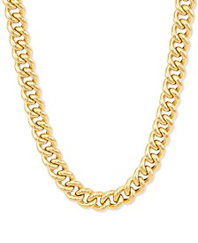 """Curb Link 18"""" Chain Necklace in 14k Gold"""