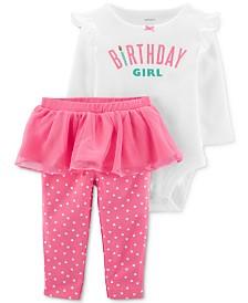 Carter's Baby Girls 2-Pc. Birthday Bodysuit & Tutu Pants Set