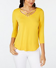 Ring-Hardware Strappy Top, Created for Macy's